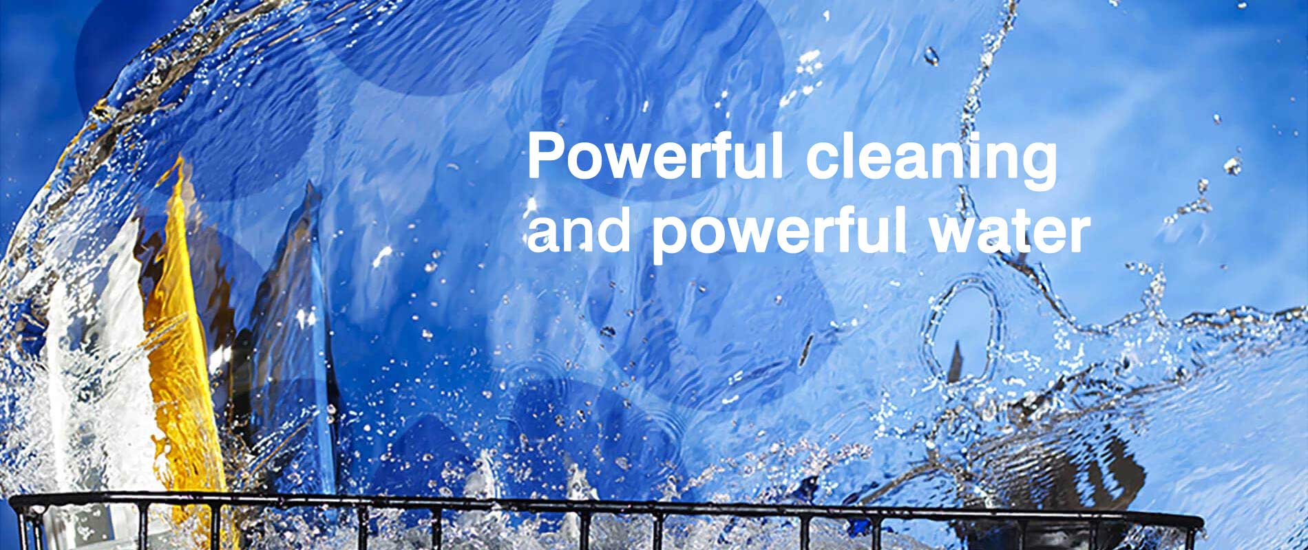 Powerfull cleaning with solar heated water